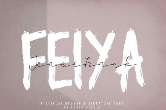 Jenoshark Feiya font duo download