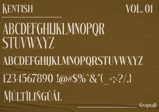 Kentish font free download