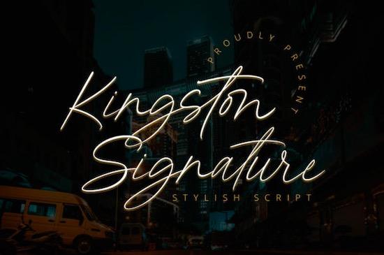Kingston Signature font free download
