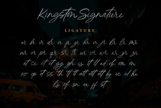 Kingston Signature font