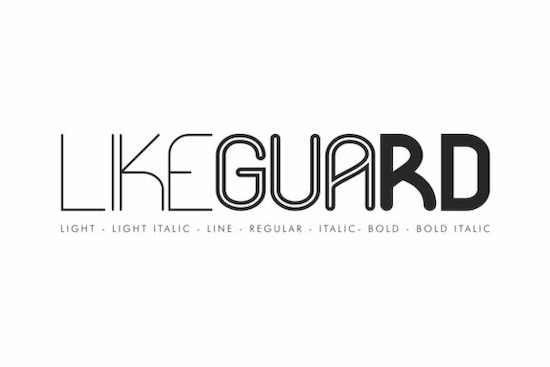 Likeguard font family free download