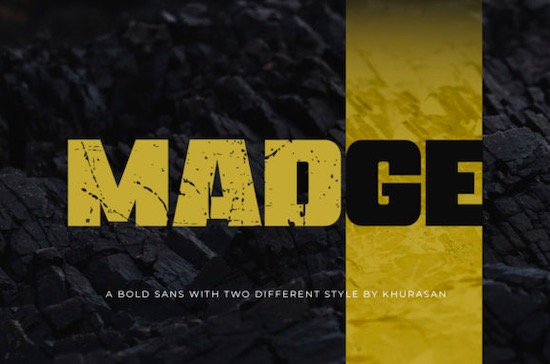 Madge font free download