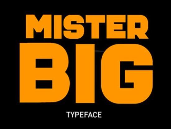 Mister Big font download