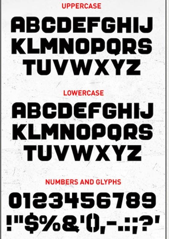 Mister Big font free
