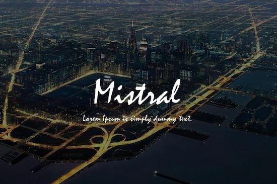 Mistral font free