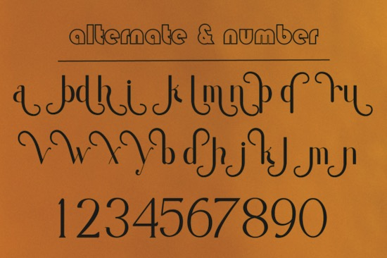 Moondana font free