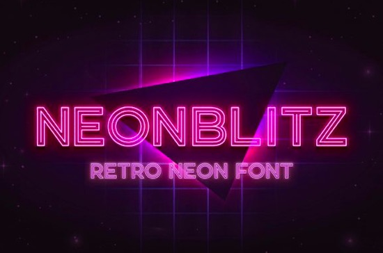 Neonblitz font free download