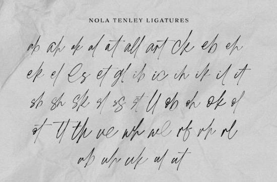 Nola Tenley font free