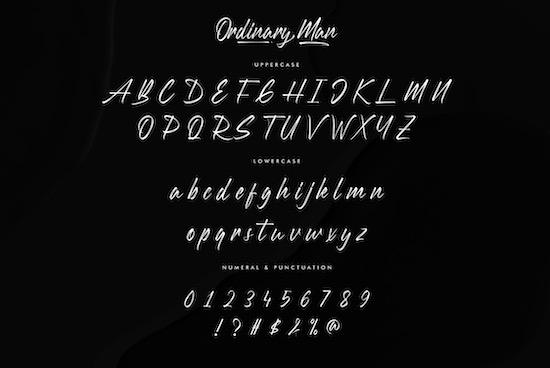 Ordinary Man font download