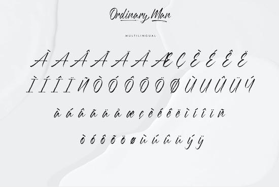 Ordinary Man font free