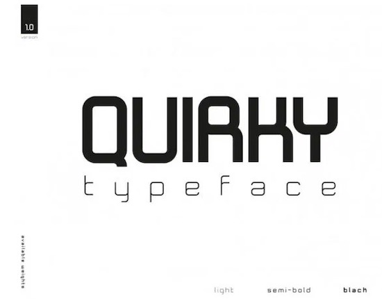 Quirky font download free