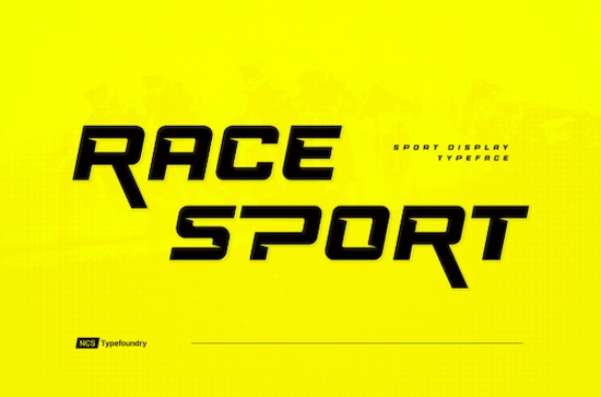 Race Sport font free download
