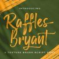 Raffles Bryant font free download