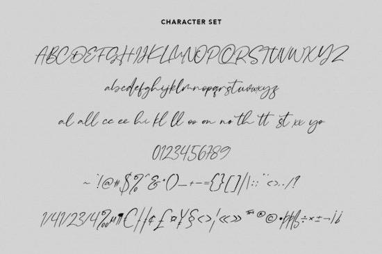 Raliscka font free