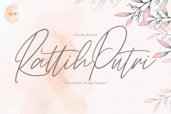 Rattih Putri font free download