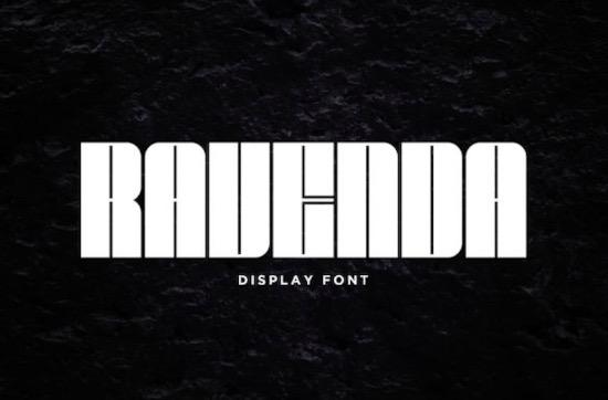 Ravenda font free
