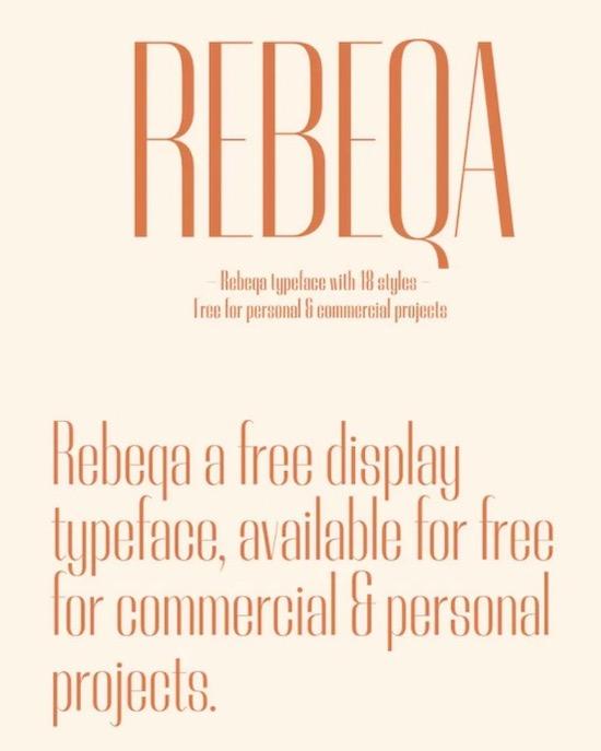 Rebeqa font family free