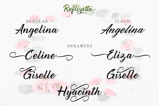 Reflisatta font free