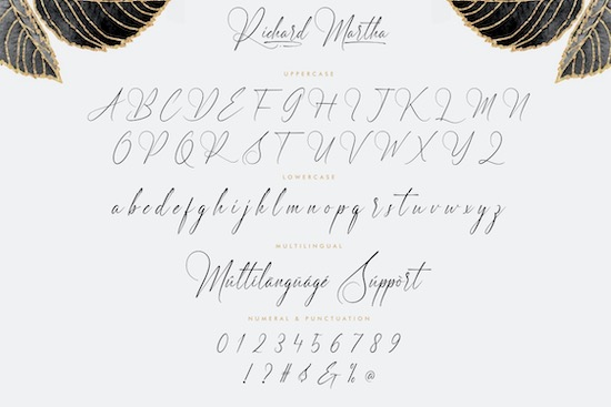 Richard Martha font download