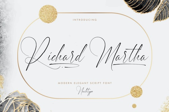 Richard Martha font