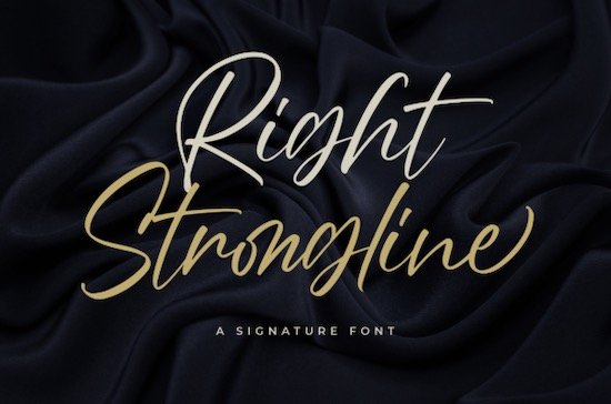 Right Strongline font free download