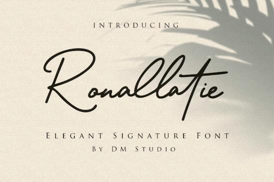 Ronallatie font free download