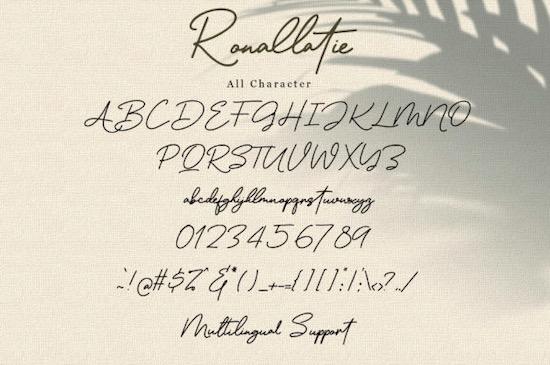 Ronallatie font free
