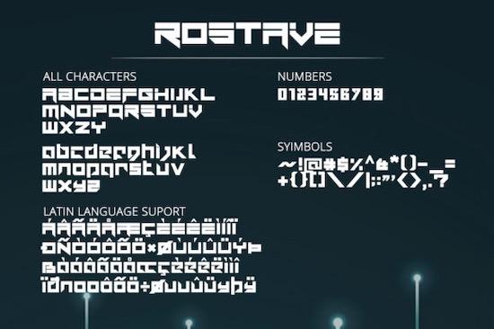 Rostave font download