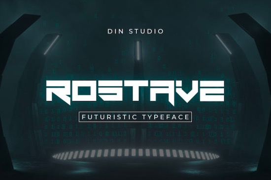 Rostave font free download