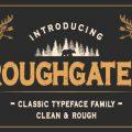 Roughgates font free download
