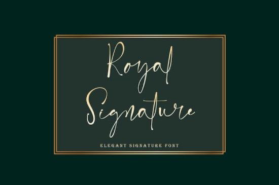 Royal Signature font free download