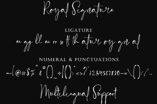 Royal Signature font free