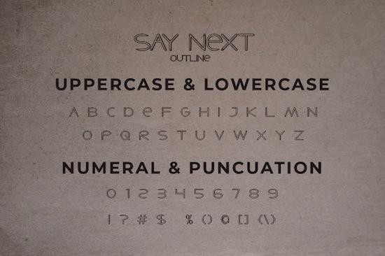 Say Next font download