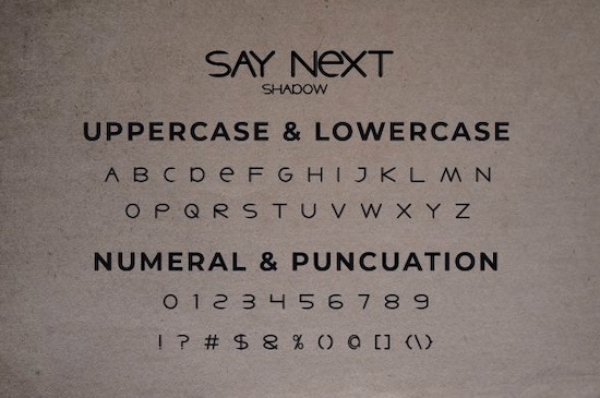 Say Next font free