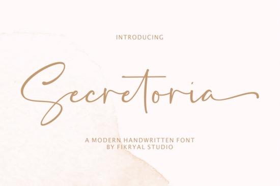 Secretoria font free download