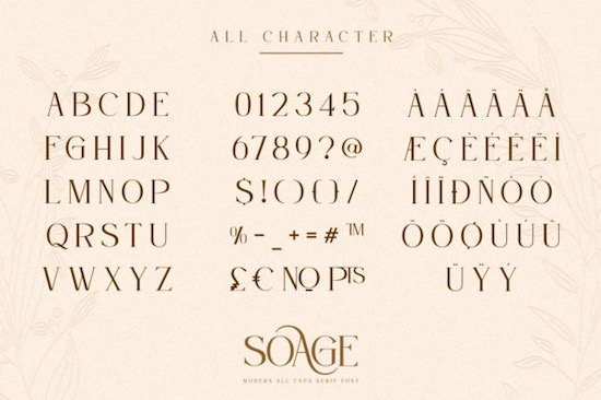Soage font free