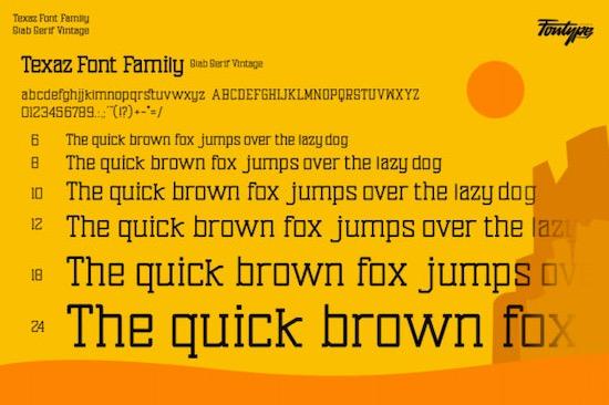 Texaz font download