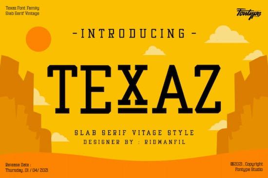 Texaz font free download