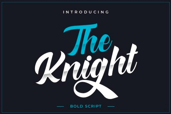 The Knight font free download