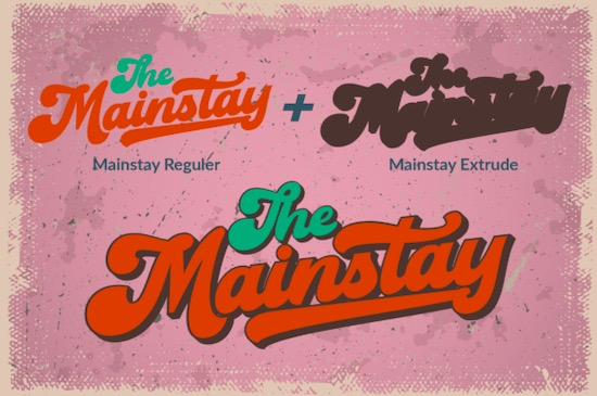 The Mainstay font free download
