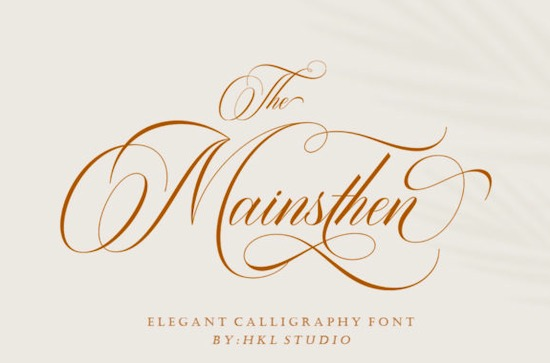 The Mainsthen font free download