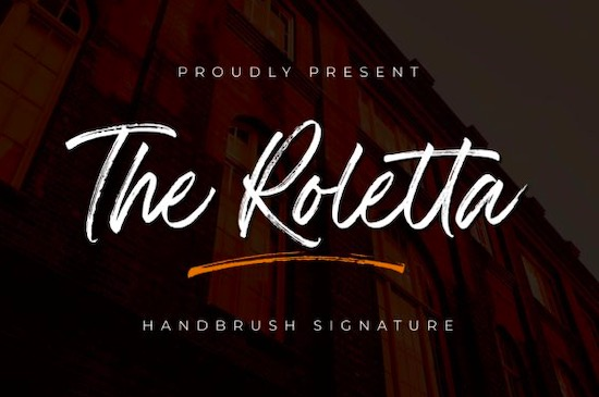 The Rolleta font free download