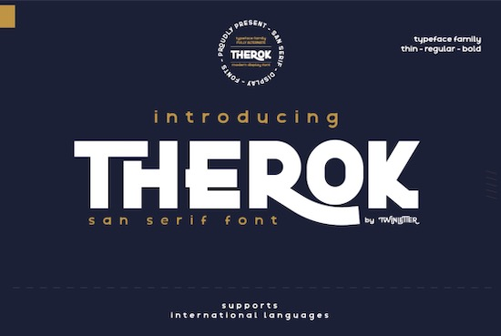 Therok font free download