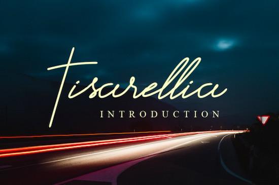 Tisarellia font free download