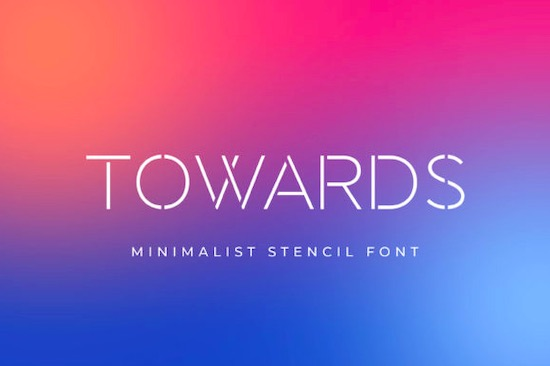 Towards font free download