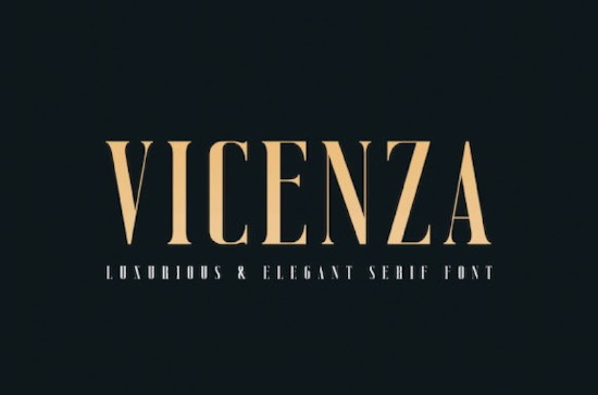 Vicenza font free download