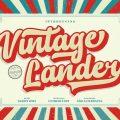 Vintage Lander font free download