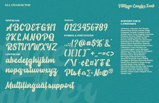 Vintage Lander font free
