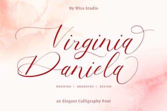 Virginia Daniela font free download