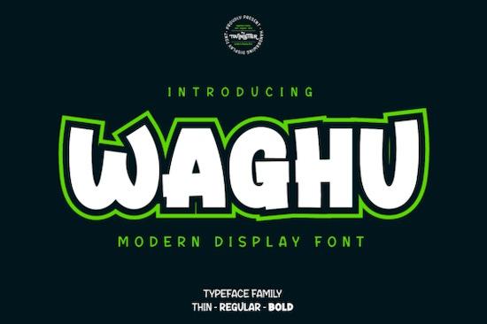 Waghu font free download